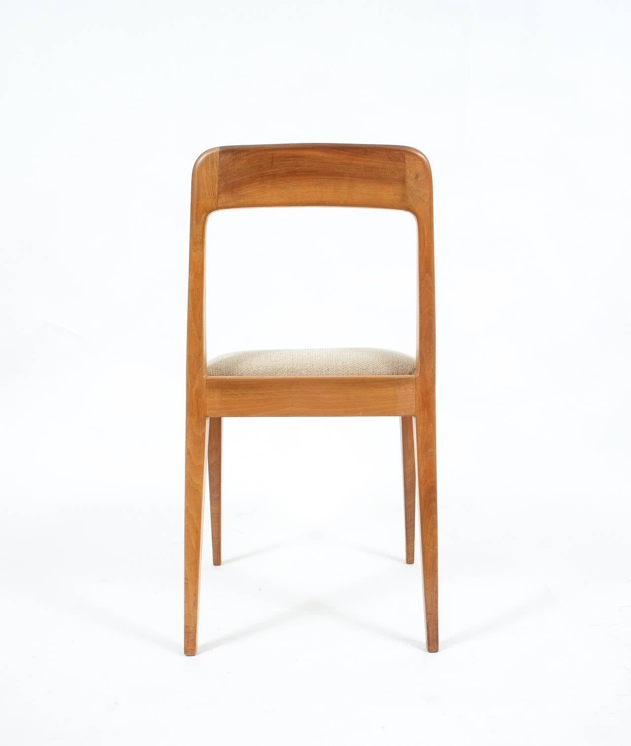 Set of Six Carl Auböck Wooden Chairs Mid-Century, 1950 In Good Condition For Sale In Vienna, AT