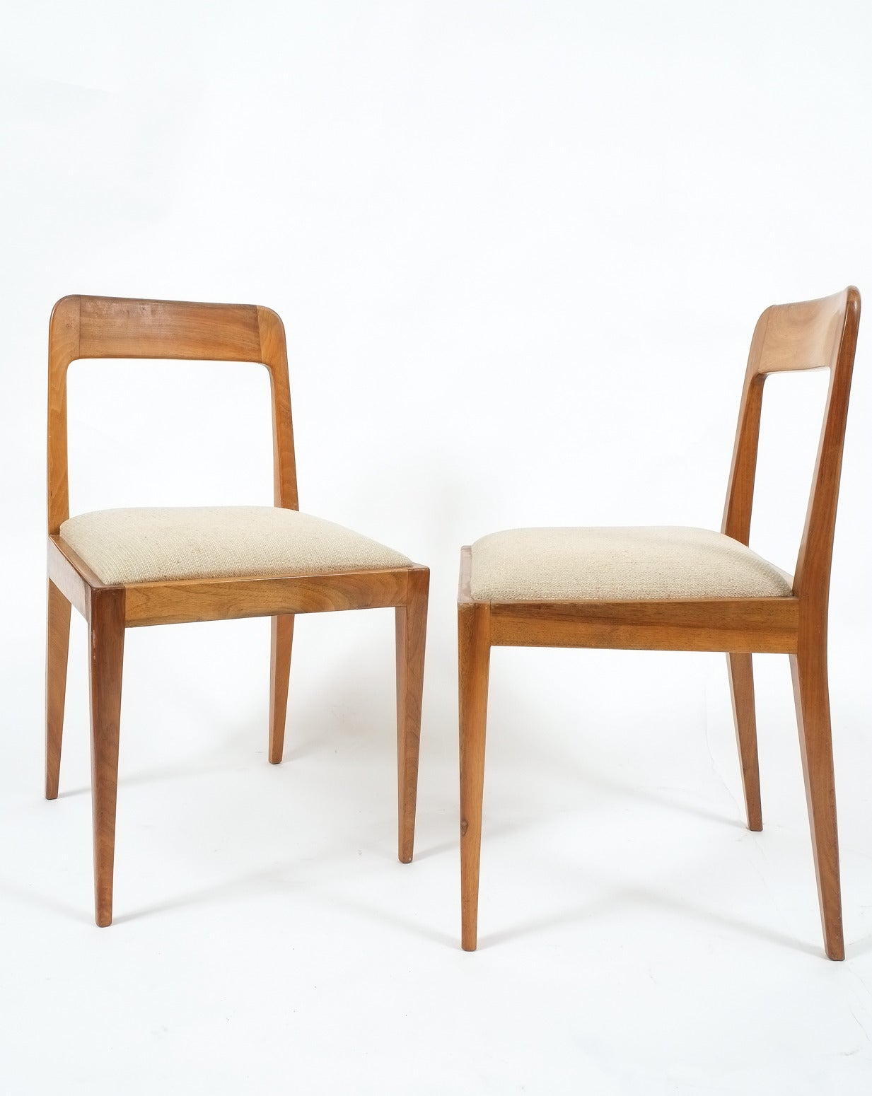 Mid-20th Century Set of Six Carl Auböck Wooden Chairs Mid-Century, 1950 For Sale