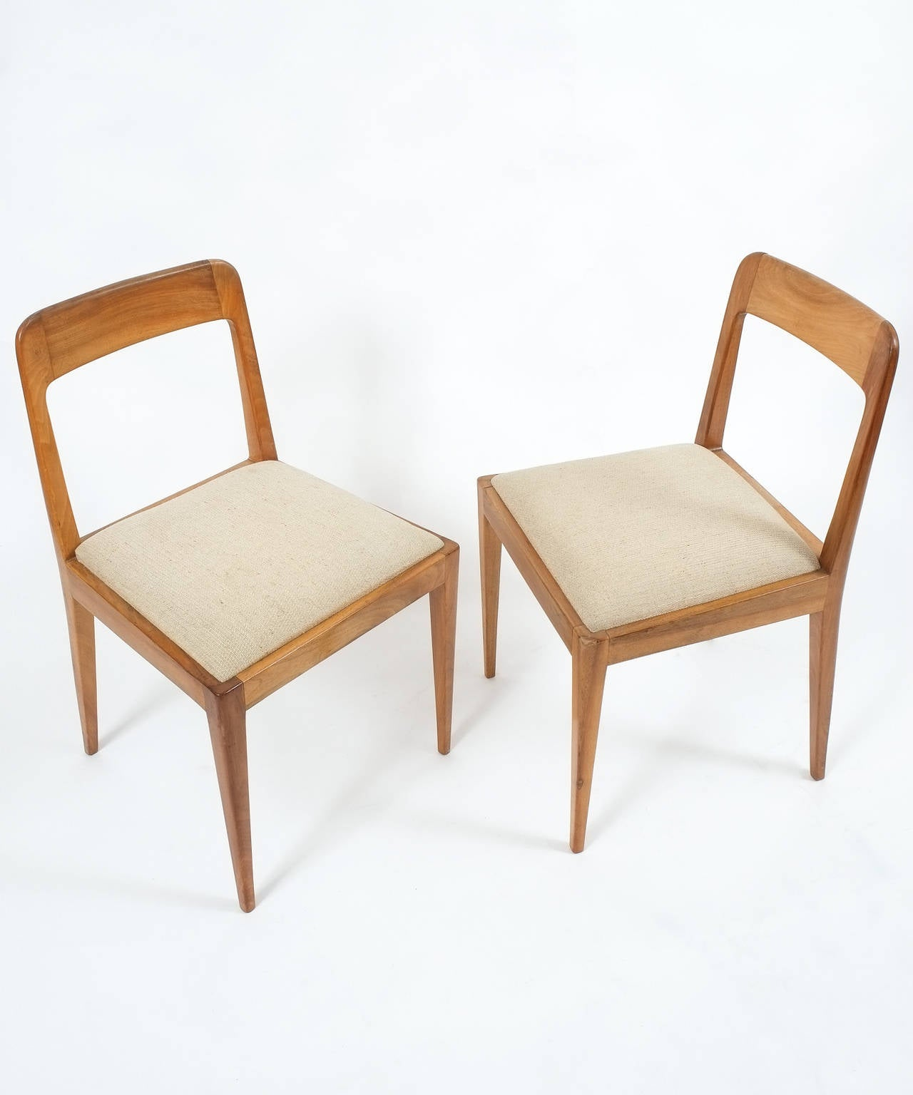 Set of Six Carl Auböck Wooden Chairs Mid-Century, 1950 For Sale 1