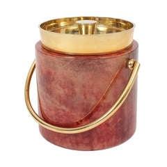 Aldo Tura Parchment Brass Ice Bucket