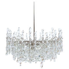 Impressive Tendril Ribbon Glass Chandelier by Palwa