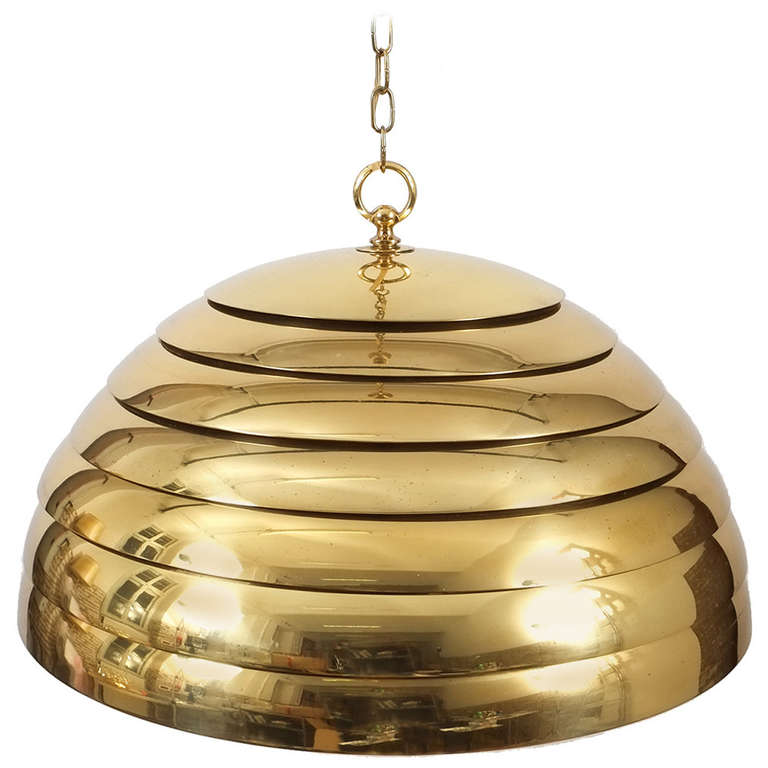 florian schulz large brass dome pendant with translucent