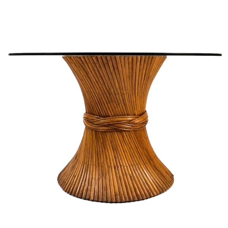 McGuire Sheaf Of Bamboo Dining Table For Sale