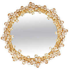 Petit Palwa Gilded Brass and Crystal Mirror