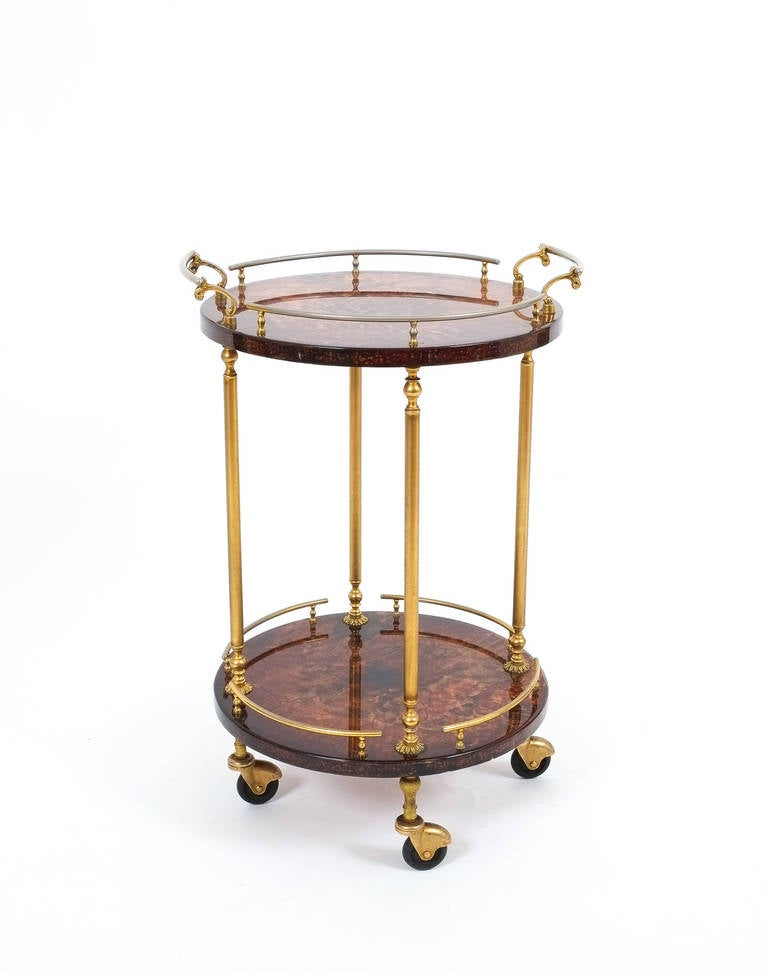 Aldo tura petite bar cart or side table at 1stdibs for Table bar petit espace