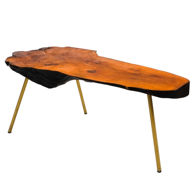 large tree trunk table attributed to carl aubock at 1stdibs