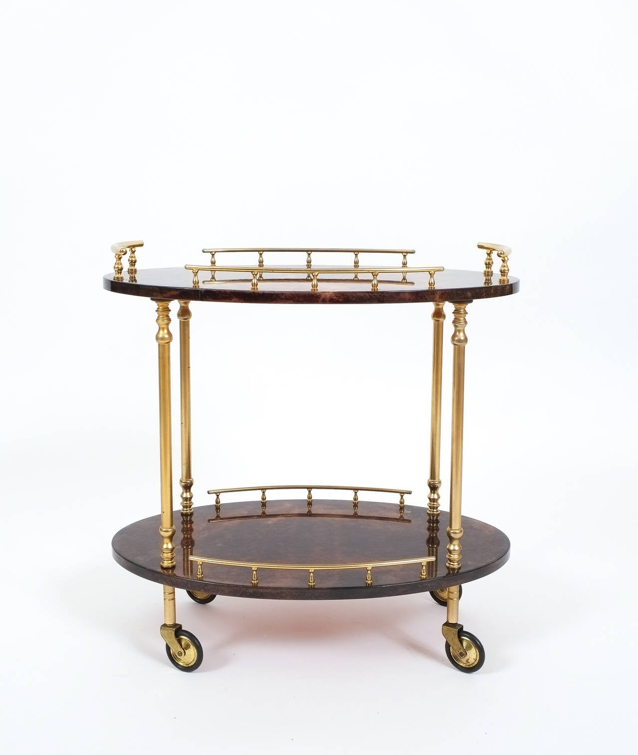 aldo tura petite bar cart or side table at 1stdibs On petite table bar