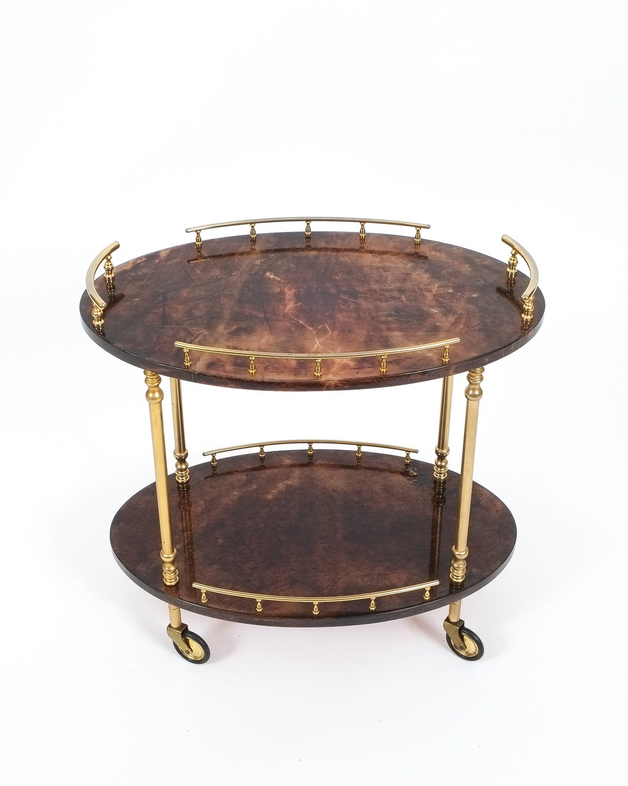 Aldo Tura Petite Bar Cart or Side Table at 1stdibs