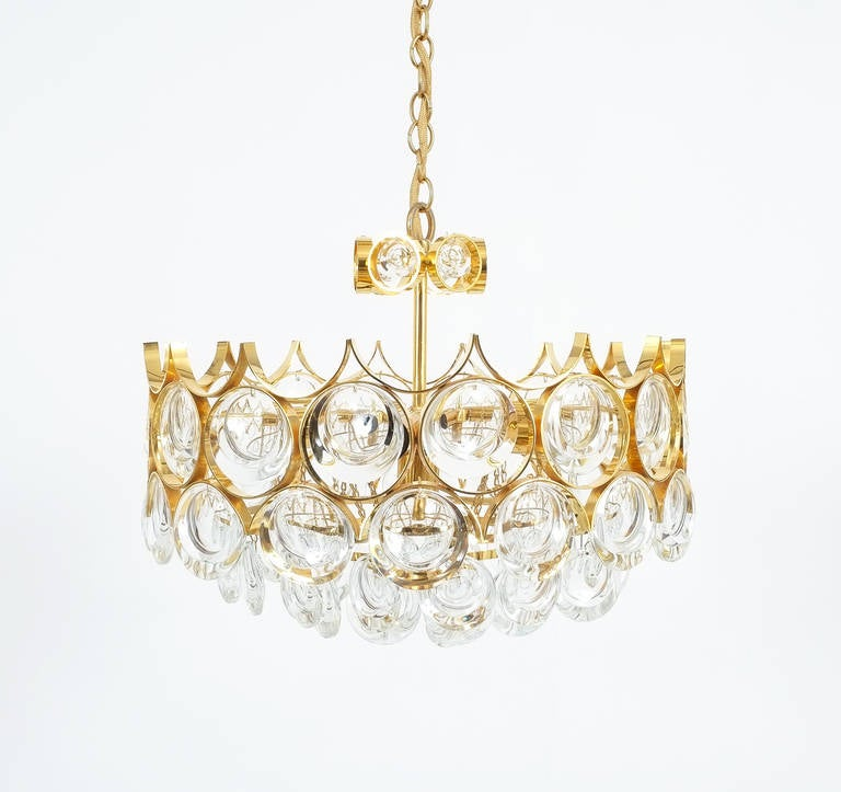 Palwa pair of petite gold brass glass chandeliers lamps refurbished palwa pair of petite gold brass glass chandeliers lamps refurbished 1960 charming 15quot aloadofball Image collections