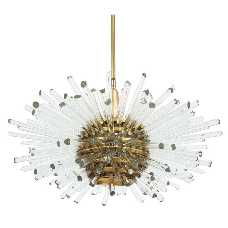 Miracle Glass Rod Chandelier By Bakalowits And Sohne At