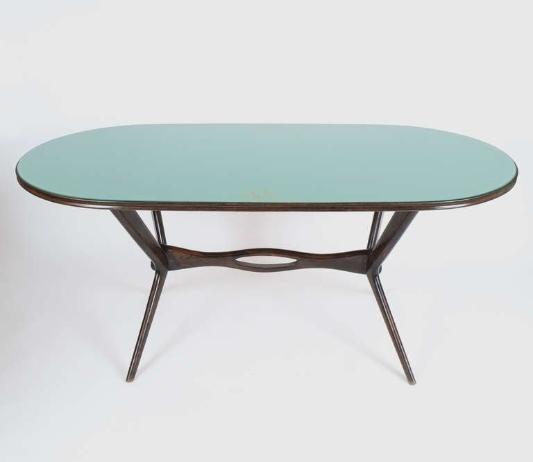 Elegant Italian Glass Dining Table Attributed To Ico Parisi At 1stdibs