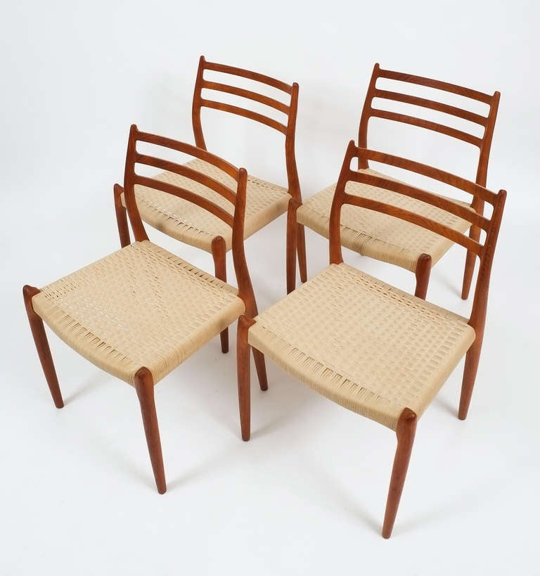 Set of four niels otto moller dining chairs at stdibs