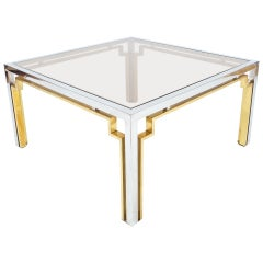 Exquisite Double-Frame Coffee Table, Italy circa 1975