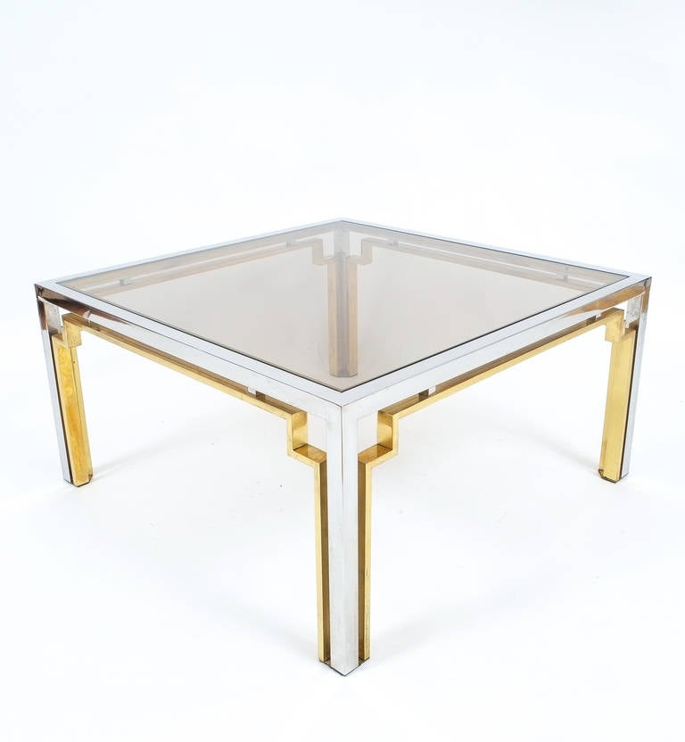 Exquisite Double Frame Coffee Table Attributed To Romeo Rega For Sale At 1stdibs