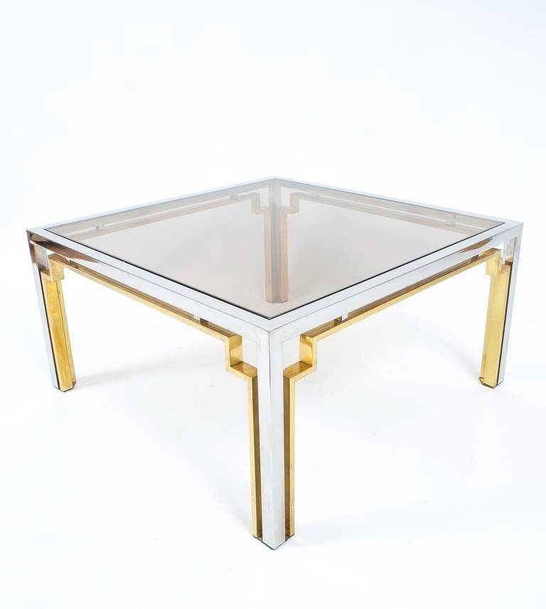 Exquisite Double Frame Coffee Table Attributed To Romeo Rega At 1stdibs