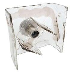 Modernist Carlo Nason Murano Swirl Glass Flush Mount