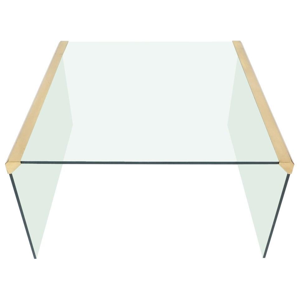 Italian Clear Glass Coffee Table by Pierangelo Galotti for Galotti & Radice,1970