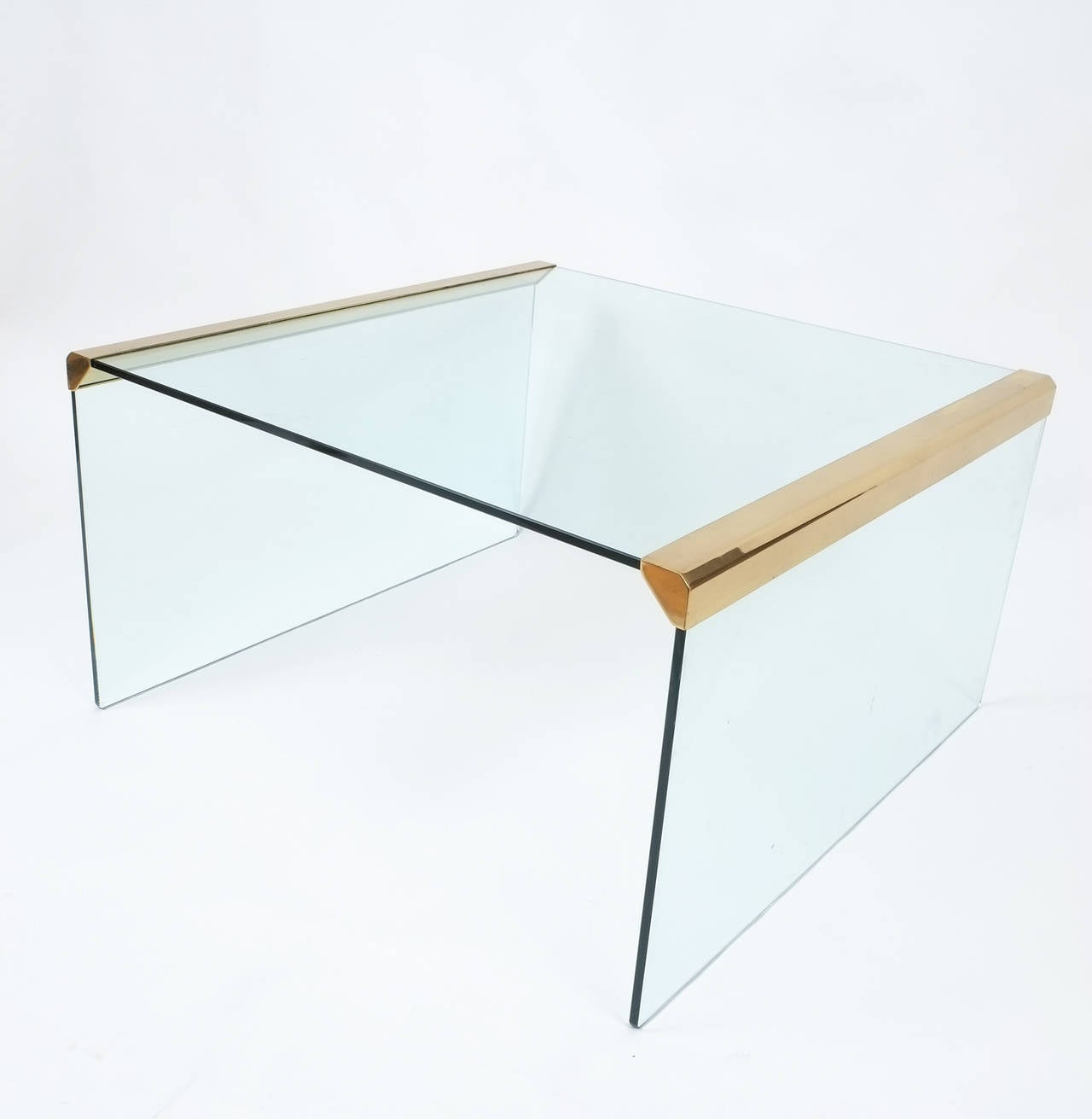 Italian Clear Glass Coffee Table By Pierangelo Galotti For Galotti And Radice For Sale At 1stdibs