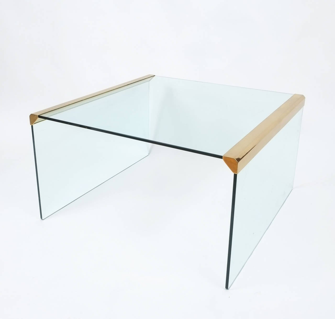 Italian clear glass coffee table by pierangelo galotti for galotti and radice for sale at 1stdibs Clear coffee table