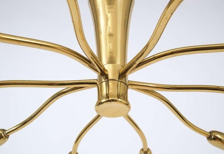 J.T Kalmar Brass Sputnik Scorpio Chandelier Ceiling Lamp Light, 1950 6