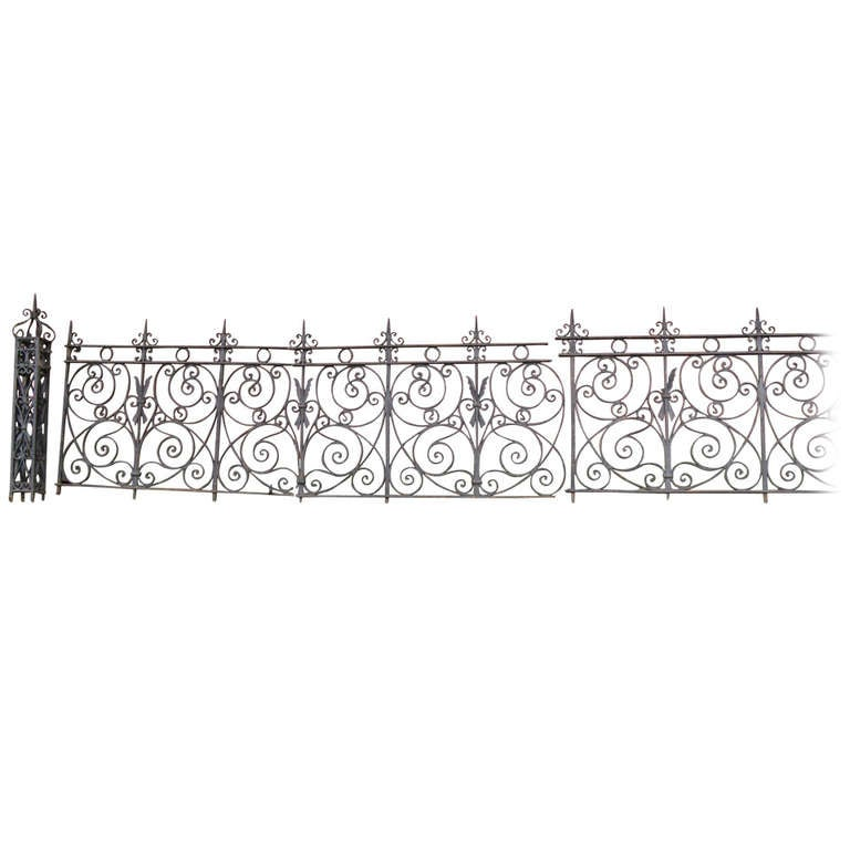 19th Century Iron Fence For Sale