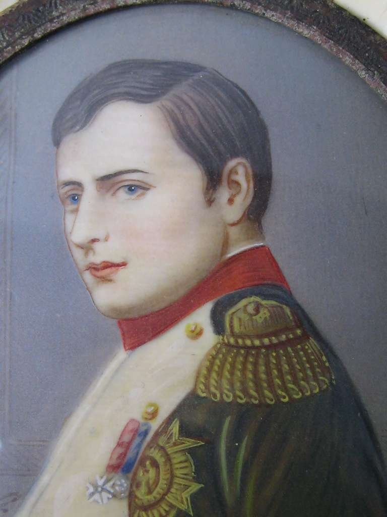 Napoleon Emperor Of France Miniature Painting On Glass