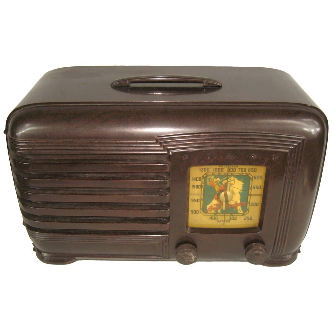 Lone ranger vintage 1930s pilot bakelite radio at 1stdibs for Furniture and more