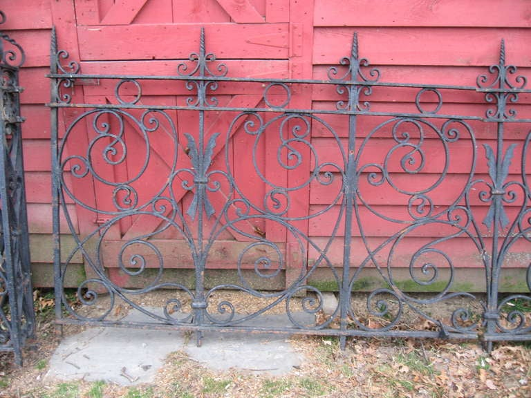 American 19th Century Iron Fence For Sale