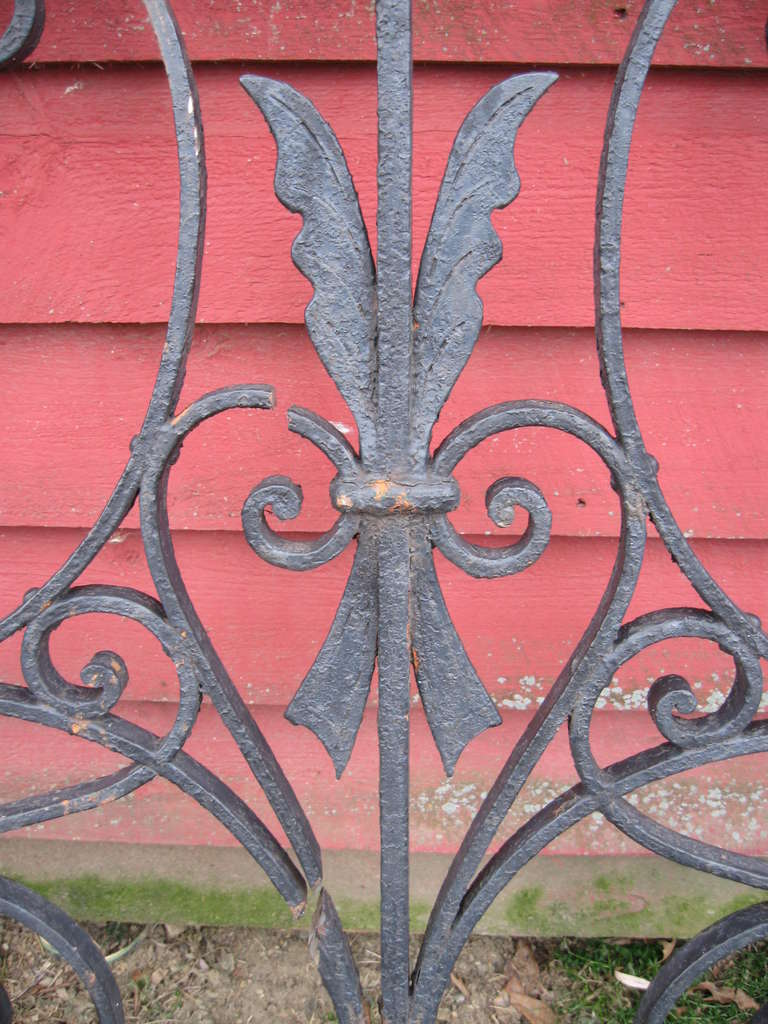Hand-Crafted 19th Century Iron Fence For Sale