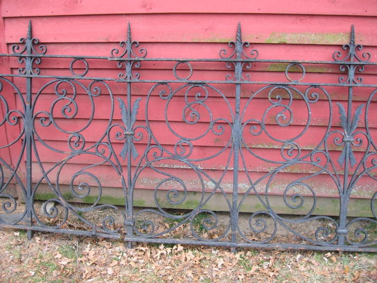 19th Century Iron Fence For Sale 2