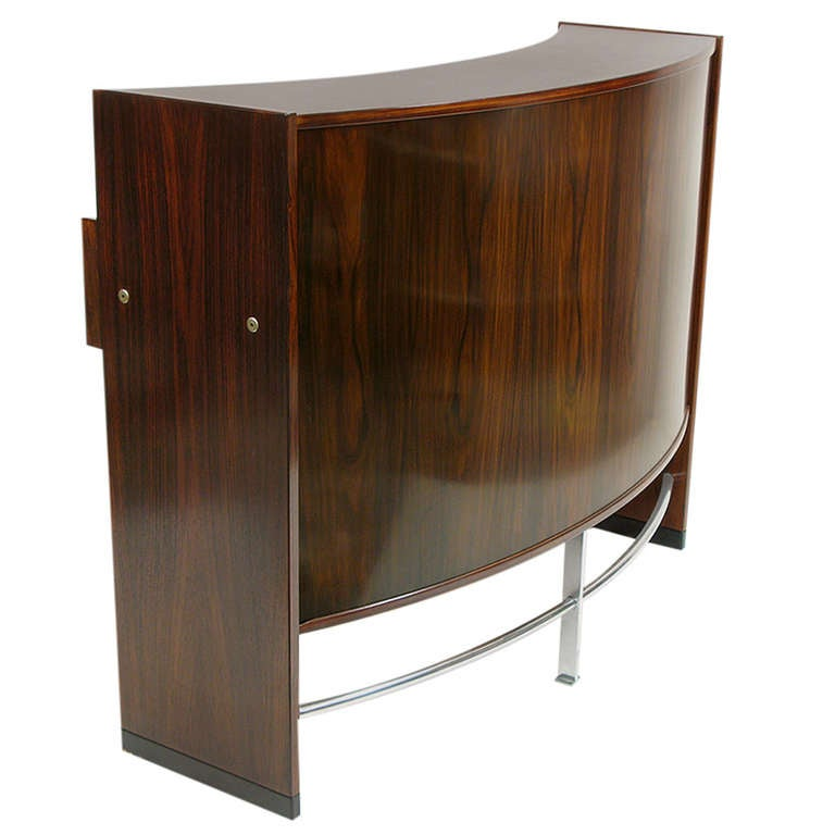 Angular danish dry bar by erik buck for dyrlund at 1stdibs for Home dry bar furniture