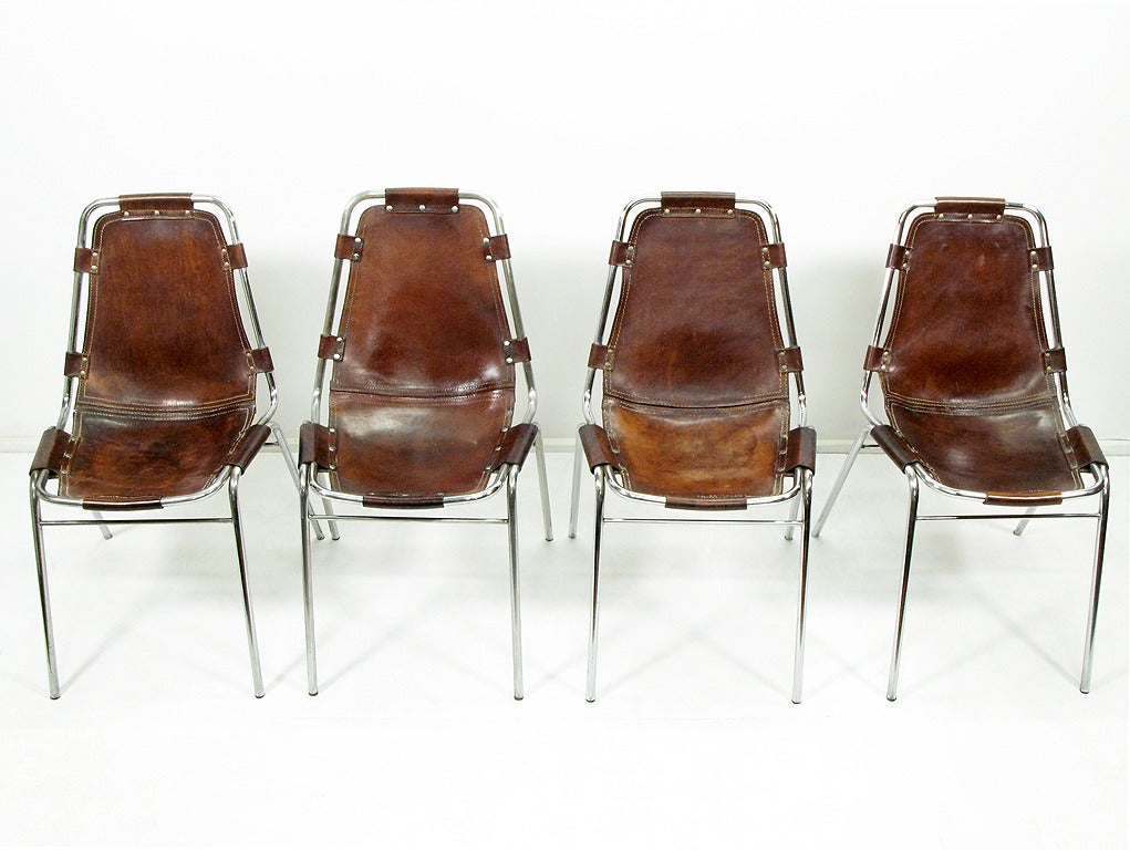 eight 1960s les arcs chairs by charlotte perriand at 1stdibs. Black Bedroom Furniture Sets. Home Design Ideas