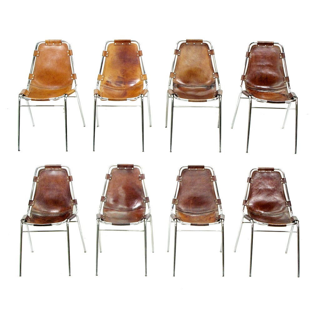 Eight 1960s les arcs chairs by charlotte perriand at 1stdibs for Chaise longue b306