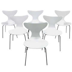 Six 1970 Seagull Chairs by Arne Jacobsen