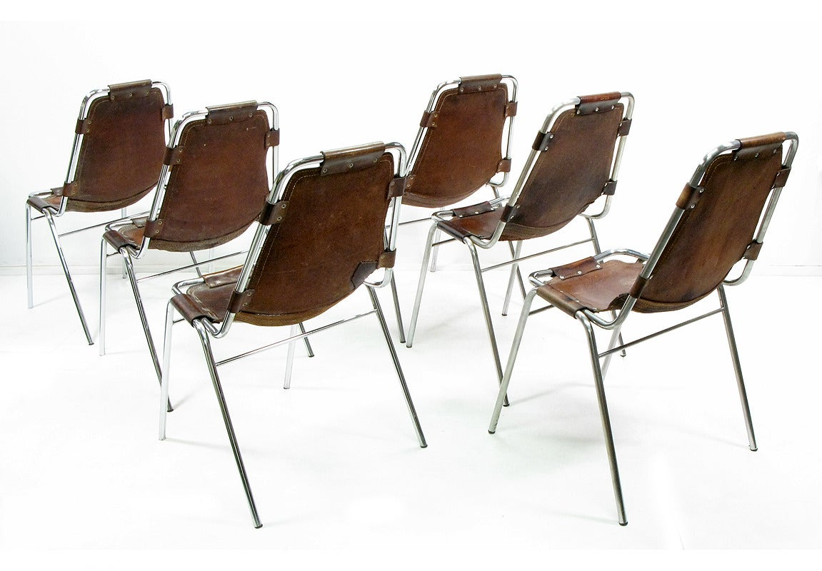 Six 1960s les arcs chairs by charlotte perriand at 1stdibs for B306 chaise longue