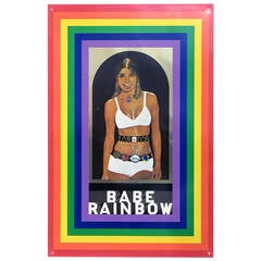 """Babe Rainbow"" 1960s Screen-Print on Tin by Peter Blake"