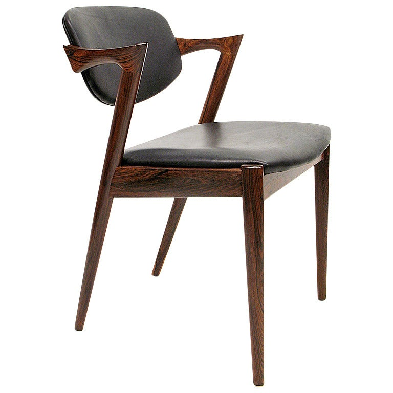 Kai Kristiansen Rosewood And Leather Chairs At 1stdibs