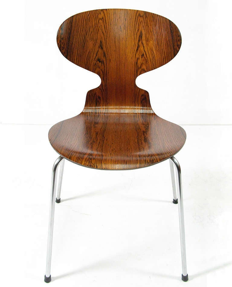 five rosewood ant chairs by arne jacobsen at 1stdibs. Black Bedroom Furniture Sets. Home Design Ideas