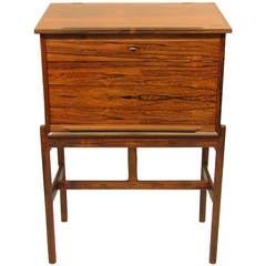 Danish Rosewood Writing Desk by Arne Wahl Iversen