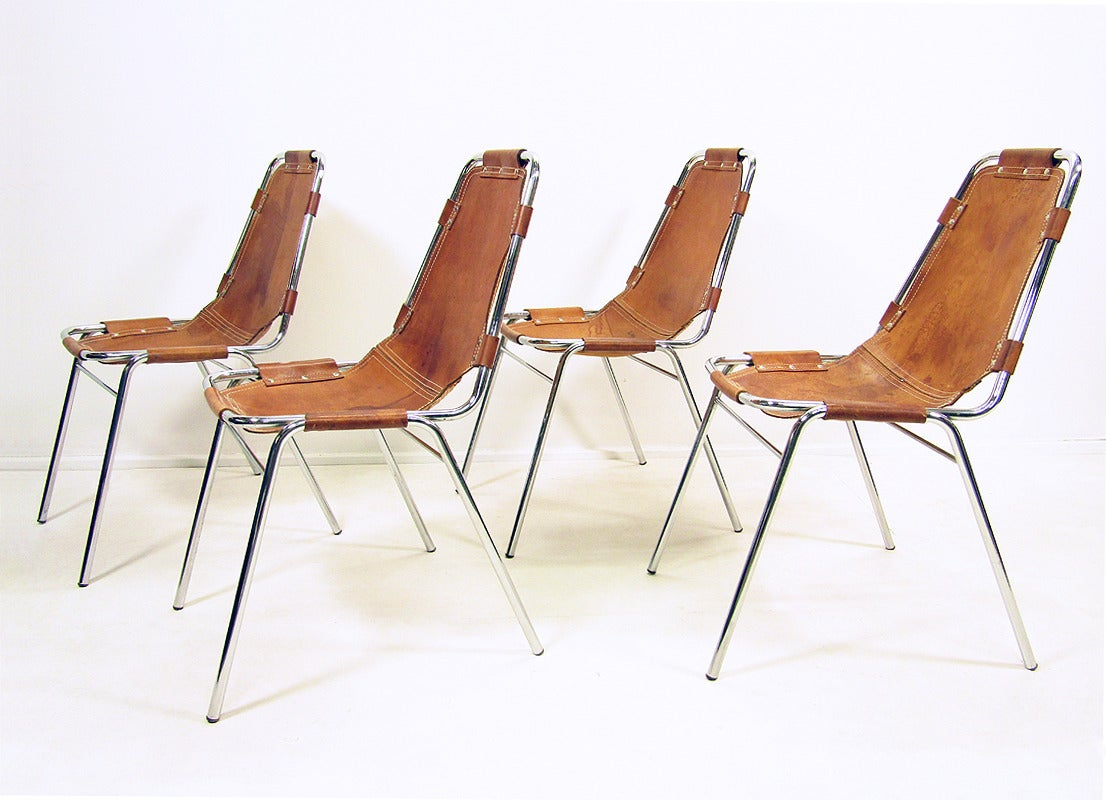 Four 1970s les arcs chairs at 1stdibs for Chaise longue b306