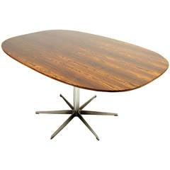 Rosewood Super Ellipse Table by Piet Hein & Arne Jacobsen