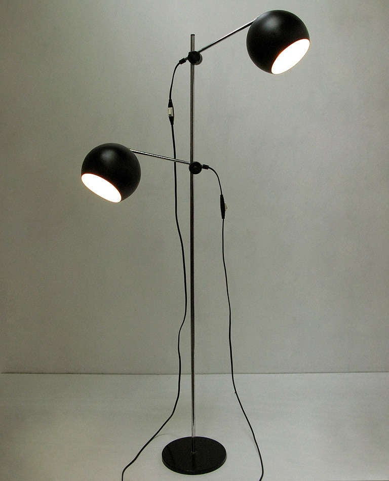1970s Swedish Articulated Floor Light - 2 available 2
