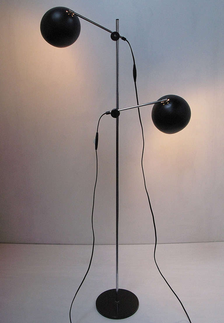 1970s Swedish Articulated Floor Light - 2 available 3