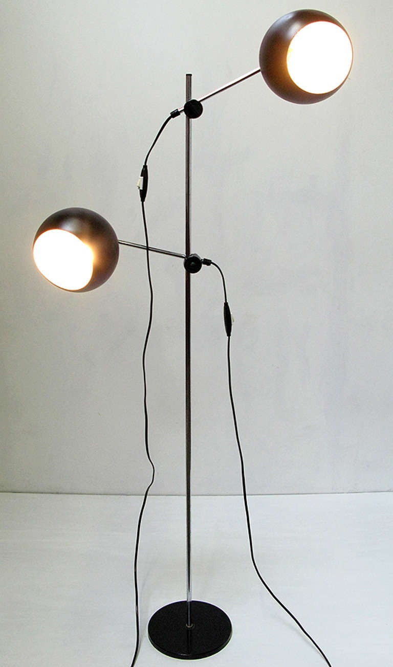 1970s Swedish Articulated Floor Light - 2 available 5