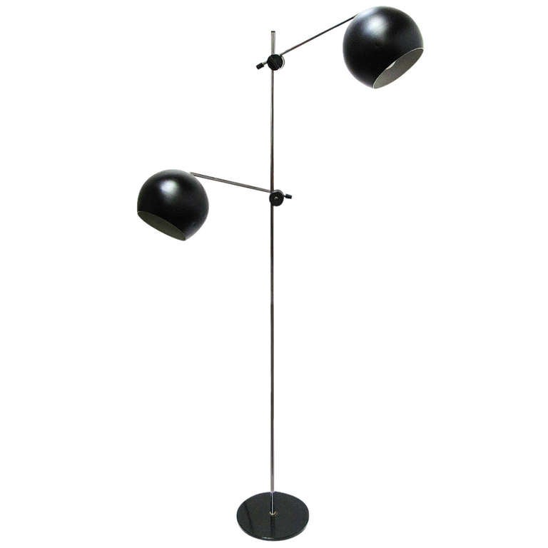 1970s Swedish Articulated Floor Light - 2 available 1