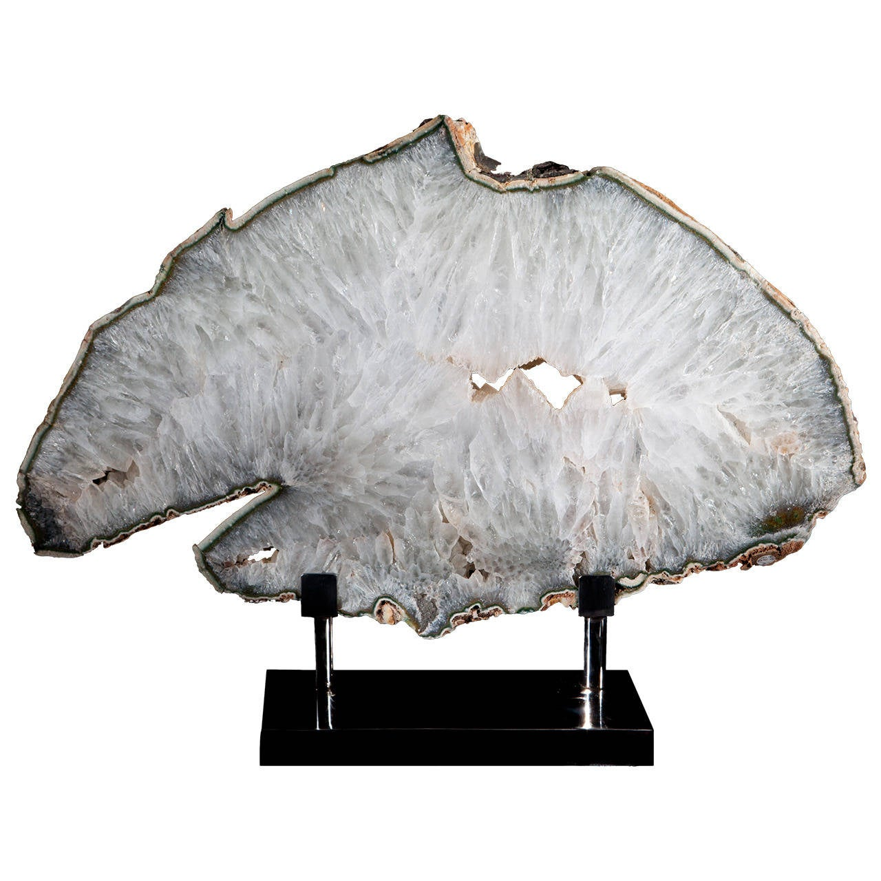Mounted Quartz Crystal Slice