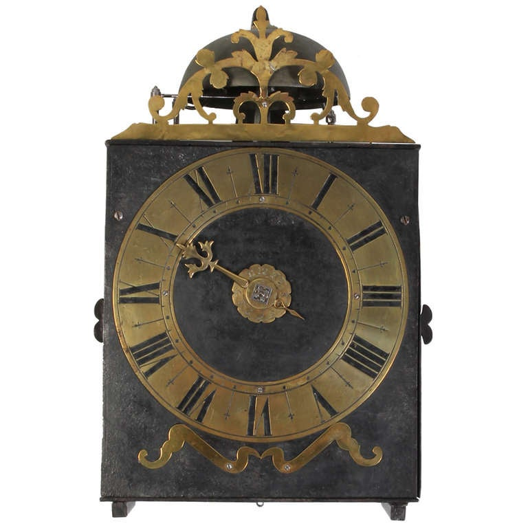 An Early French Provincial Iron And Brass Morbier Wall