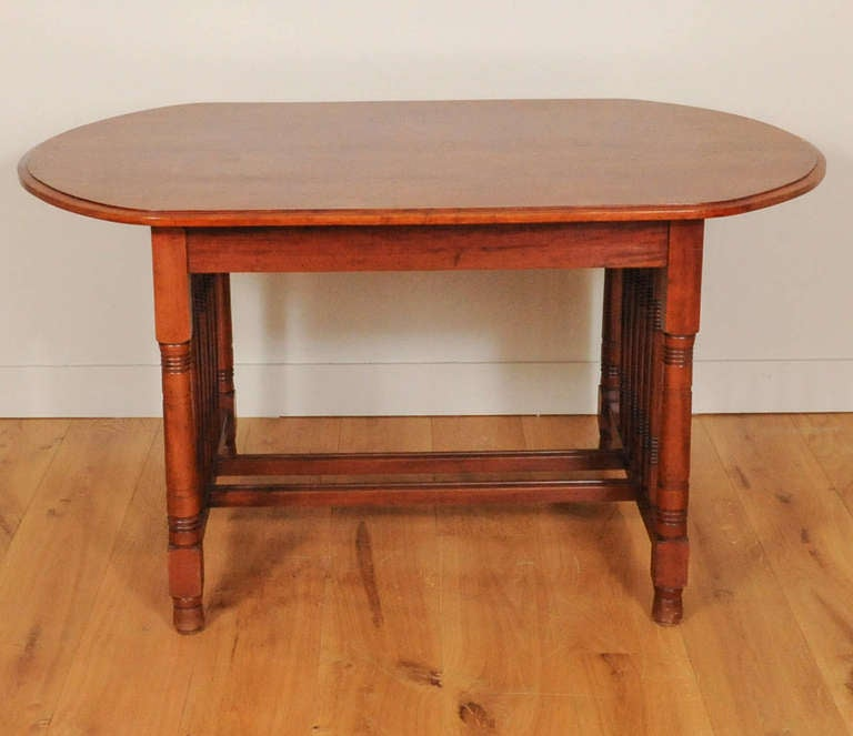 A Dutch Art Deco Mahogany Dining Room Set Of A Table And