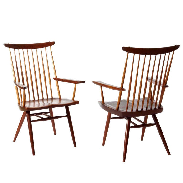 """George Nakashima, """"New"""" Armchairs For Sale"""