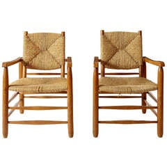 Charlotte Perriand, Pair of Armchairs